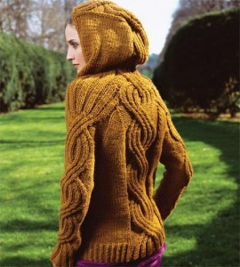 Hooded Pullover Knitting Pattern Images