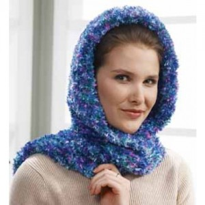 Images of Hooded Scarf Wrap Knit Pattern Instruction