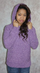 Hooded Sweater Knitting Pattern Photos