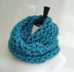 Infinity Scarf Pattern Knitting Instruction Images