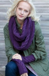 Images of Infinity Cowl and Wristers Knitting Pattern