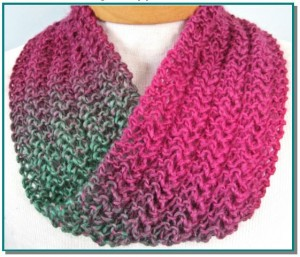 Photos of Infinity Scarf Lace Knitting Pattern