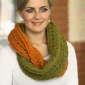 Infinity Scarf Pattern Two Color