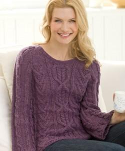 Irish Cable Knit Sweater Pattern Photo