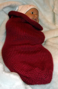 Knit Baby Cocoon Pattern Photo