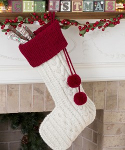 Knit Cable Stocking Christmas Pattern Images