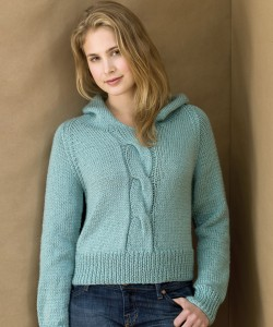Picture Knit Cabled Hoodie Sweater Pattern