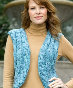 Photo of Knit Cabled Vest Sweater Pattern