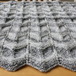 Picture of Knit Chevron Baby Blanket Pattern