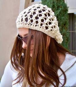 Knit Slouchy Beanie Pattern Instruction Pictures