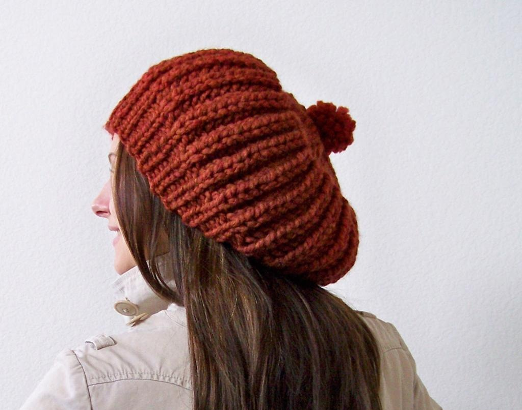 Knitting Beanie Patterns : Slouchy beanie knit pattern a knitting