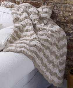 Knit Wave Afghan Pattern Image