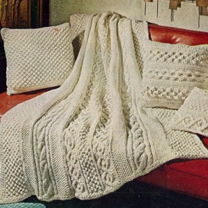 Pictures of Knitted Aran Afghan Pattern