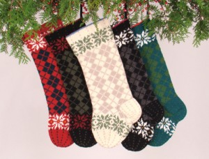 Knitted Christmas Stocking Design Patterns Photo