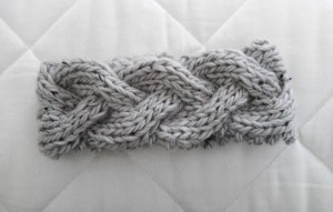 Knitted Chunky Braided Headband Pattern Tutorial Photos