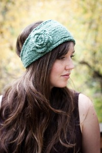 Knitted Flower Headband Earwarmer Pattern Images