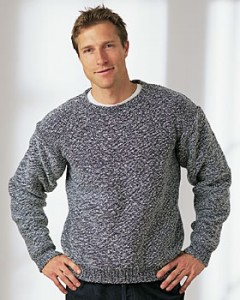Knitted Men's Sweater Pattern Photo