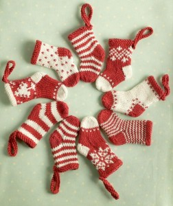 Knitted Mini Christmas Stockings Pattern Photos