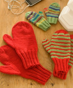 Knitted Mitten Pattern Images