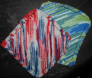 Knitting Dishcloth Pattern Image