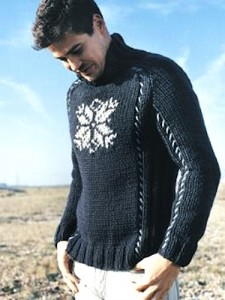 Knitting Sweater Pattern For Men's Picture