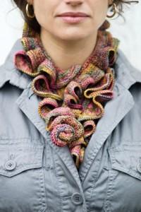 Koigu Ruffle Scarf Knitting Pattern Designs Images