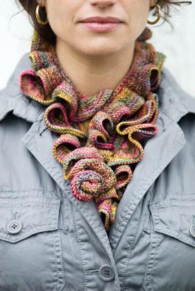 Ruffle Scarf Knitting Pattern A Knitting Blog