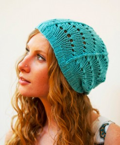 Picture of Lace Beanie Knitting Pattern