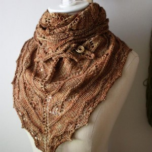 Pictures of Lace Shawlette Knitting Pattern