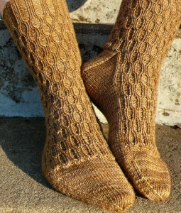 Lacunae Sock Knitting Pattern Pictures