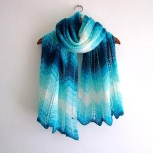 Lacy Chevron Shawl Knitting Pattern Image