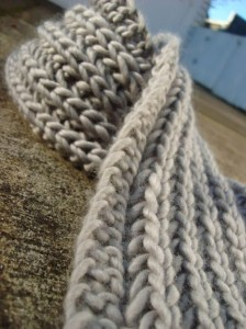 Photos of Lanchester Chunky Knitting Scarf Pattern