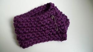 Long Loom Knit Scarflette Pattern Pictures