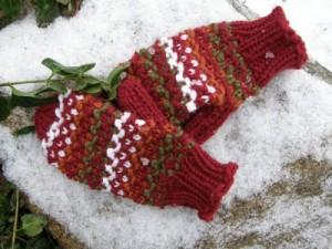 Long Loom Mitten Knitting Pattern Instruction Image
