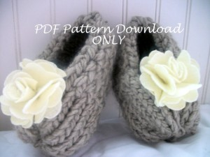 Loom Knit Baby Booties Pattern