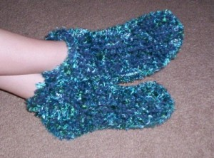 Loom Knit Chunky Slipper Pattern Images