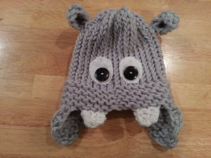 Loom Knit Hippo Hat Pattern Tutorial