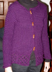 Loom Knit Sweater Pattern Images