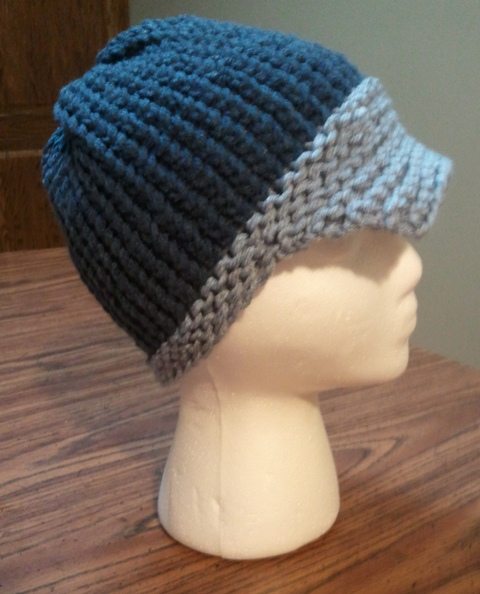 How To Loom Knit A Baby Visor Hat