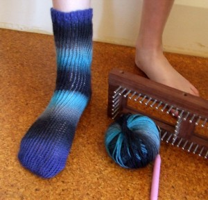 Loom Knitting Sock Pattern Instruction Picture