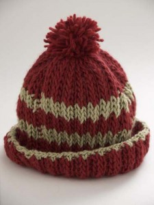 Loom Stripe Hat Rib Pattern Design Photo