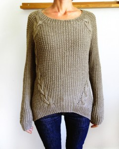 Loose Knit Cabled Sweater Pattern Images