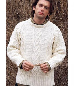 Men's Cable Knit Sweater Pattern Image