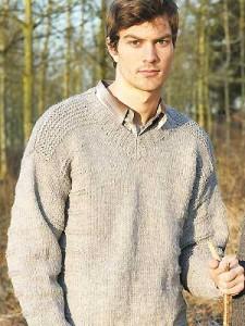Men's V-Neck Sweater Knitting Pattern Photos