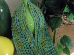 Mesh Bamboo Scarf Knitting Pattern Pictures