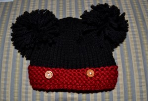 Mickey Mouse Knitting Hat Pattern Tutorial Images