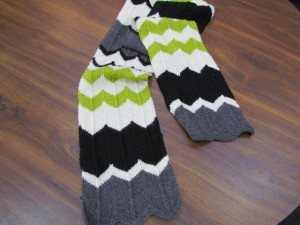 Multicolored Chevron Scarf Knitting Pattern Images