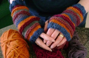 Photo of Multicolored Fingerless Gloves Knitting Pattern