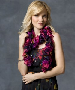 Nanette Ruffle Scarf Knitting Pattern Pictures