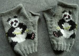 Panda Mitten Knitting Pattern Photo